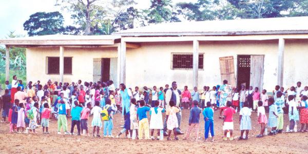 Atelier de brossage à l'école, lors des supervisions
